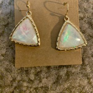 BRAND NEW FAUX MOONSTONE EARRINGS